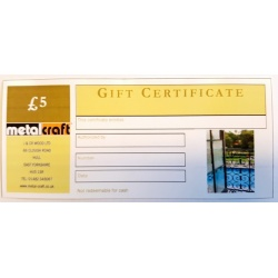 Gift Vouchers For DIY Equipment