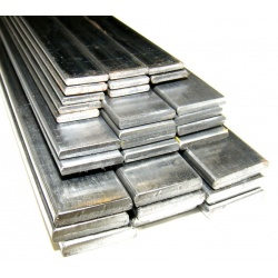 50 lengths - 914mm (3ft) x 12mm x 2mm Flat Bars (Bright A...