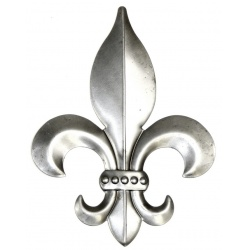 A classic Fleur De lys decoration made from lightweight steel and easy to fix.