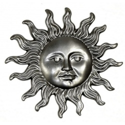 Use the Sun pressing made from thin steel - to brighten up any metal craft ideas you have