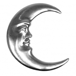The classic shape of a half moon with a face-ideal for bedroom based crafts