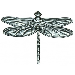 A  pressed steel dragonfly great for wall art projects