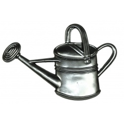 A small steel watering can pressing  that can be attached to your metal designs