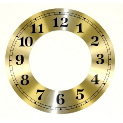 Looking for Clock Dials UK-a 5 inch diameter chapter ring with standard clock numbers