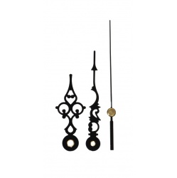 A range of Clock Making Supplies Available like these black clock hands for a 5 inch clock