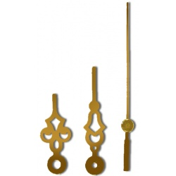 Make Your Own Clock Kit with these gold old-fashioned styled clock hands for 5 inch clocks