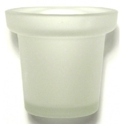 Frosted Flowerpot Votive Glass