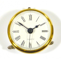 Small Clock Face insert with a white dial, 65mm in diameter