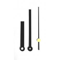 Clock Materials such as these Modern looking black clock hands available for 7 inch clocks faces