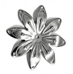 We have Metal Flowers For Sale like these  8 petal flowers with a center hole for easy attachment