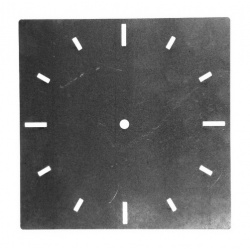 A large modern Square Clock Face made from steel ideal for clock backings