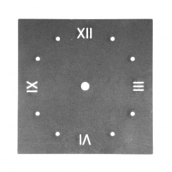 Small roman Square Clock Dials made from steel are perfect for the backing of clocks
