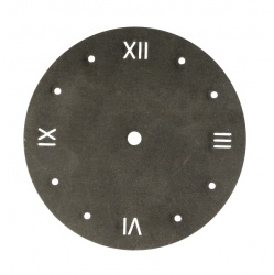 Small roman round Clock Dials UK made from metal for DIY clock projects