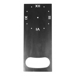 Metal Clock Dials available like this large steel Grandfather Clock Face