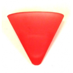 Frosted Conical Tealight Glass (Red)