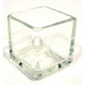 Square Tealight Votive Glass - Clear
