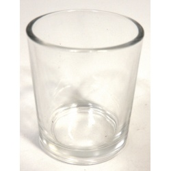Plain Sided Clear Votive Glass