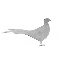 Metal silhouette animals in the outline of a pheasant perfect for weather vanes