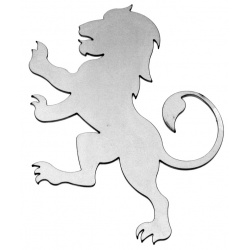 The Lion silhouette made from steel-makes a great centerpiece