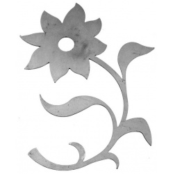 A Metal flower -deal for garden related craft projects