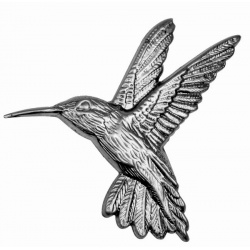 A hummingbird or kingfisher made from pressed mild steel you can colour yourself