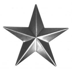 A large steel raised star can  be used on many  craft ideas -including Christmas displays.