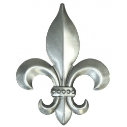 Fleur de lys steel stamping you can affix to any project you might have