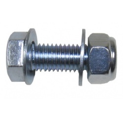 Attach your latch in place with this latch fastener - used as part of a latch set.