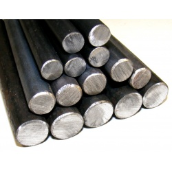 12 lengths - 1524mm (5ft) x 12mm Dia Round Bars (Black Ho...