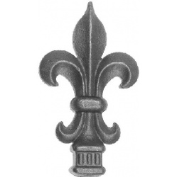 These Fleur de lys railing tops can be used as Curtain Pole Finials