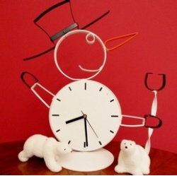 Free Design Notes For Snowman Clock Project